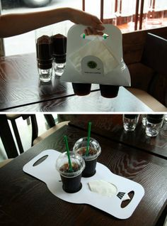 A Great Coffee Cup Carrier and Promotional Device From Germany | stuff4restaurants