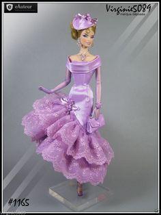 tenue outfit + accessoires pour  barbie silkstone vintage fashion royalty#1165