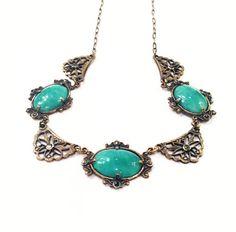Lovely Antique Art Deco Necklace Peking by GracesVintageGarden