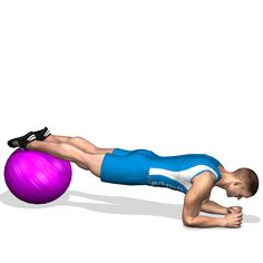 PLANK LEGS O FITBALL