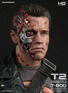 Enterbay - HD Masterpiece - 1 4 scale - Terminator 2 Judgment Day T800 Battle Damaged - HD1013