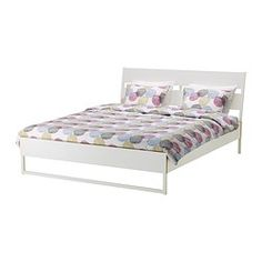 TRYSIL Bed frame - white/light grey, Double - IKEA Idea for bedframe in Uni student pad $119