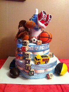 diaper cake for little boy