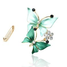 Skeins type restoring ancient ways is popular in Europe and America butterfly crystal brooch designed for wedding women