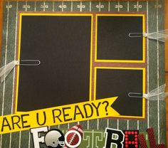 scrapbook ideas layouts football | Football Scrapbook Page - Mom on the Run x2