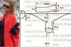 12 modele de tipare pentru croitoresele începătoare. Câteva cusături și haina este gata! - Fasingur Stil Boho, Line Chart, Celtic, Couture, Haute Couture