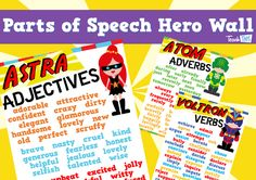 Parts of Speech Superheroes - Word Prompts