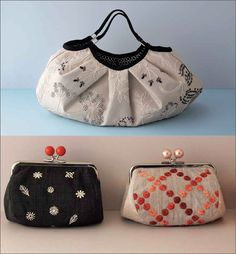 Artfully Embroidered | book to purchase | Motifs and Patterns for Bags and More | Shimoda | InterweaveStore.com