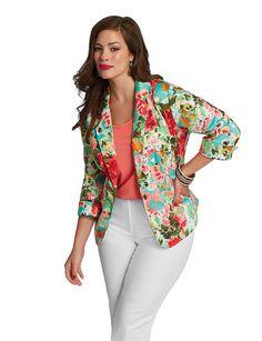 Plus Size Floral Crochet Pullover | Dressbarn Bra, Shorts, Sandals ...