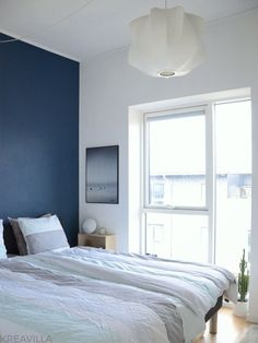 Blue tone bedroom with plants Bedroom Plants, Blue Tones, House, Bedroom, Plants In Bedroom, Home, Haus, Houses