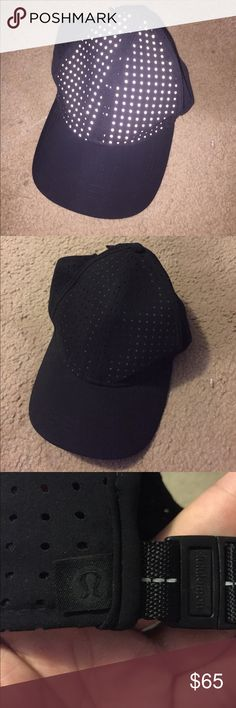 lululemon baller hat black running hat. laser cut holes. reflective in front lululemon athletica Accessories Hats