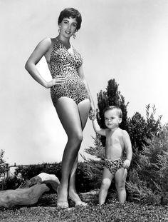 Elizabeth Taylor with son, Michael Wilding Jr.