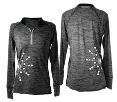 6d05cc59 Reflective Long Sleeve - Women's Reflective Quarter-Zip - Directions - RUSEEN  Reflective Apparel Zip