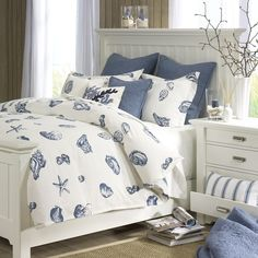 We've got the beach house blues....with blue shell designed bedding