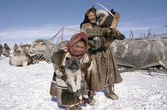 Nenets, also known as Samoyeds, are an indigenous people in northern arctic Russia. They don't bother with the wedding meal, they serve raw venison to the guests.
