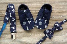 Zapatos de bebé náutica botitas de niño de por MartBabyAccessories