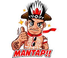 Pace and Mace Papua by Arif Hakim-Arnes-Indra (Branch Jayapura) sticker Islamic Cartoon, Anime Muslim, Cartoon Jokes, Line Store, Funny Stickers, Line Sticker, Emoticon, Animated Gif, Animation
