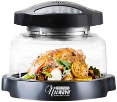 NuWave® Oven Pro Plus is a highly efficient countertop oven with unsurpassed precision and convenience features. The Oven Pro Plus uses a unique combination of infrared, conduction and convection cooking to bake faster and more efficiently. Healthy Meals To Cook, No Cook Meals, Healthy Cooking, Cooking Bacon, Cooking Chef, Cooking Turkey, Cooking Tools, Healthy Eating, Cooking Recipes