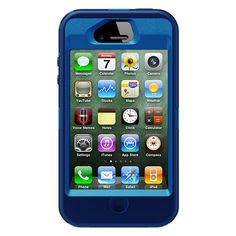 OtterBox Defender Series Case Holster for iPhone 5 Blue Black Rugged Protection #OtterBox