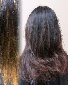 A beautiful change to a velvety brown! #HairByKristenLentz