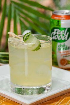 Drink refrescante de chá verde