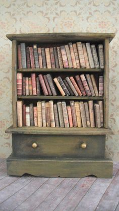Miniature Victorian Library by LDelaney on Etsy, $198.00