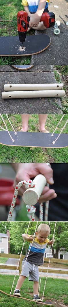 How to make a Skateboard Swing | DIY & Crafts Tutorials