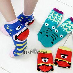 €1.18 Random Colour Cotton Cute Cartoon Stretch Tongue Socks Hosiery for Womens Girs FREE SHIPPING!