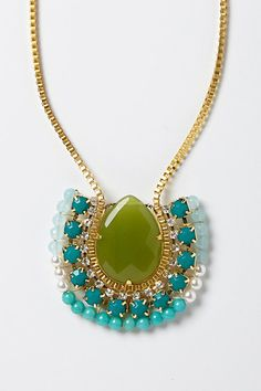 Royal Wreath Necklace #anthropologie