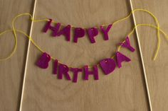 DiY tutorial: happy birthday cake banner