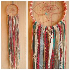 Bohemian Spirit Vintage Lace Trim Dreamcatcher by kmichel