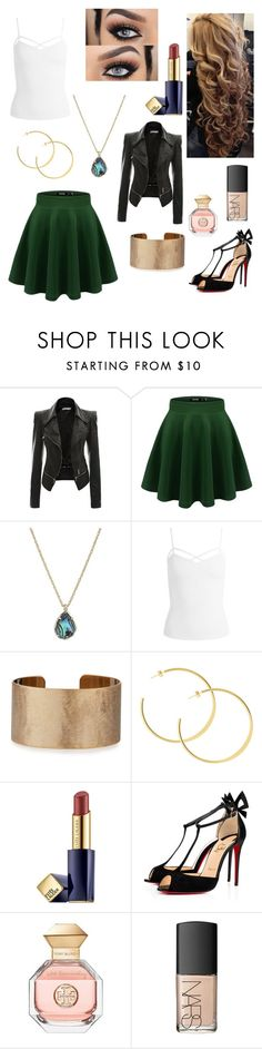 """""""Untitled #1003"""" by floridaflower11 ❤ liked on Polyvore featuring Kendra Scott, Sans Souci, Panacea, Estée Lauder, Tory Burch and NARS Cosmetics"""