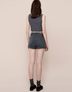 MID-RISE DENIM SHORTS - BERMUDAS & SHORTS - WOMAN - PULL&BEAR Croatia