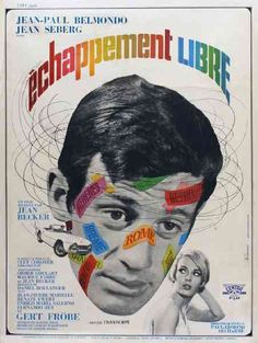"""MP546. """"Échappement Libre"""" French Movie Poster by Rene Ferracci (Jean Becker 1964) / #Movieposter"""