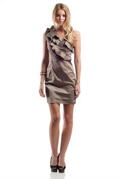 SLN ile Gala Şıklığı Vizon Saten Abiye Elbise 34222 %86 indirimle 39,99 TL Trendyol'da