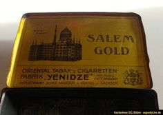 ORIG Seltene Alte Blechdose Dose ZIGARETTEN TABAK Salem Gold Dresden