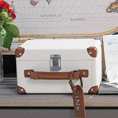 Let the journey begin! Mini Suitcase Wishing Well Wedding Keepsake