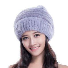 01f8e7fa7c9aa  URSFUR Knited  MinkFur Starfish Beanie Hat with Mink Fur Pom Poms Brand   URSFUR