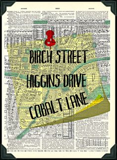 Jessica Jones Birch Street Higgins Drive Cobalt Lane Print Vintage Dictionary Page Marvel Show, Marvel E Dc, Jessica Jones Marvel, Defenders Marvel, Luke Cage, Dictionary Art, Marvel Cinematic Universe, Favorite Tv Shows, Nerdy