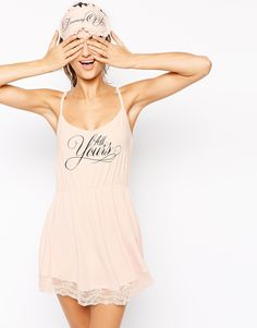 Wildfox Bridal All Yours Low Back Slip In Gift Box