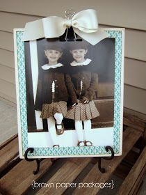 brown paper packages: {wooden clipboards...for photos, lists, and more!}