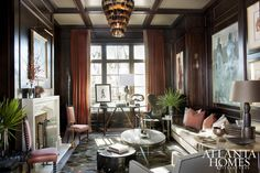 Architectural and interior designer Joel Kelly and associate Jonathan Alexander designed this richly layered study.