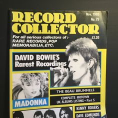 Record Collector Vintage Magazine November 1985 - No 75 - features David Bowie - Madonna - The Stranglers - For Serious Record Collectors
