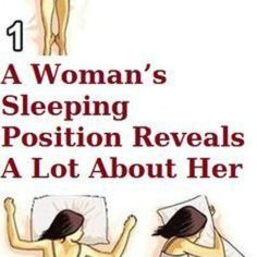 A Woman's Sleeping Position Reveals A Lot of Interesting Things About Her. Interesting huh