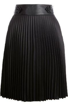 karen millen leather look pleated skirt.  wish they had it in my size!