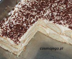 Szybkie ciasto bez pieczenia z serkiem mascarpone Dessert Cake Recipes, Polish Recipes, Chocolate Ice Cream, Homemade Cakes, Cream Cake, Vanilla Cake, Sweet Recipes, Food To Make, Deserts