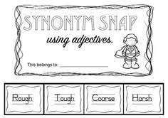 Free! Synonym Snap Adjective Edition