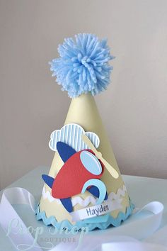 Boy's Little Airplane Birthday hat special by propshopboutique, $24.00