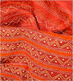 Kantha work on Tussar Silk Stole