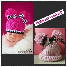 ~Risse's Pieces~ Pinterest Inspired Double Pom Ponytail Loom Knit Hat!